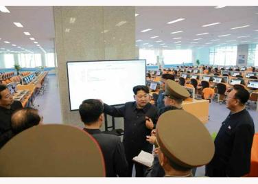 151028 - RS - KIM JONG UN - Marschall KIM JONG UN besuchte den ausgezeichnet fertig gebauten Palast der Wissenschaft und Technik - 25 - 위대한 당의 전민과학기술인재화방침이 완벽하게 반영된 국보적인 건축물 경애하는 김정은동지께서 과학기술강국 현지지도하시였다