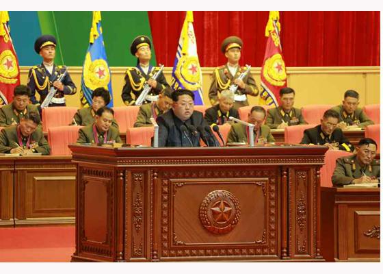 151105 - RS - KIM JONG UN - 16 - 조선인민군 제7차 군사교육일군대회 성대히 진행 경애하는 김정은동지께서 대회에 참석하시여 강령적인 연설을 하시였다