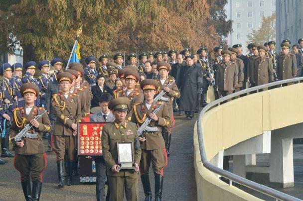 151112 - 조선의 오늘 - KIM JONG UN - Marschall KIM JONG UN nahm an der Trauerfeier für Genossen Ri Ul Sol teil - 03 - 고 리을설동지의 장의식 엄숙히 거행 우리 당과 국가, 군대의 최고령도자이신 경애하는 김정은동지께서 장의식에 참가하시였다