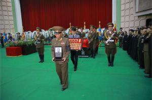 151112 - 조선의 오늘 - KIM JONG UN - Marschall KIM JONG UN nahm an der Trauerfeier für Genossen Ri Ul Sol teil - 11 - 고 리을설동지의 장의식 엄숙히 거행 우리 당과 국가, 군대의 최고령도자이신 경애하는 김정은동지께서 장의식에 참가하시였다