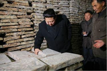 151123 - 조선의 오늘 - KIM JONG UN - Marschall KIM JONG UN besichtigte den Fischereibetrieb '25. August' der 313. Truppe der KVA - 11 - 경애하는 김정은동지께서 사회주의바다향기 차넘치는 조선인민군 제313군부대관하 8월25일수산사업소를 현지지도하시였다