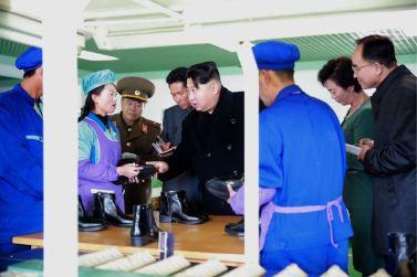 151127 - 조선의 오늘 - KIM JONG UN - Marschall KIM JONG UN besuchte die Schuhfabrik Wonsan - 06 - 경애하는 김정은동지께서 원산구두공장을 현지지도하시였다