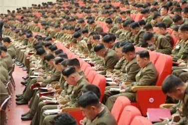 151205 - 조선의 오늘 - KIM JONG UN - Die 4. Artilleristenkonferenz in Anwesenheit vom Marschall KIM JONG UN - 15 - 경애하는 김정은동지의 지도밑에 조선인민군 제4차 포병대회 성대히 진행