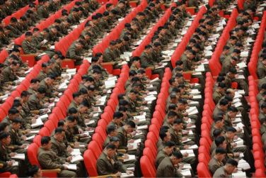 151205 - SK - KIM JONG UN - Die 4. Artilleristenkonferenz in Anwesenheit vom Marschall KIM JONG UN - 02 - 경애하는 김정은동지의 지도밑에 조선인민군 제4차 포병대회 성대히 진행