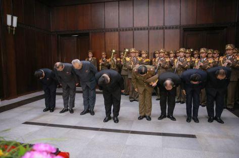151231 - 조선의 오늘 - KIM JONG UN - 02 - 경애하는 김정은동지께서 고 김양건동지의 령구를 찾으시여 깊은 애도의 뜻을 표시하시였다