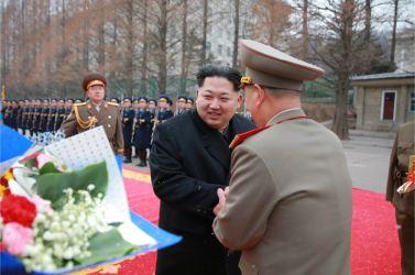 160110 - 조선의 오늘 - KIM JONG UN - Marschall KIM JONG UN hielt im Ministerium für Volksstreitkräfte eine programmatische Rede - 02 - 경애하는 김정은동지께서 새해에 즈음하여 인민무력부를 축하방문하시고 강령적인 연설을 하시였다