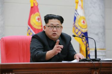 160110 - 조선의 오늘 - KIM JONG UN - Marschall KIM JONG UN hielt im Ministerium für Volksstreitkräfte eine programmatische Rede - 08 - 경애하는 김정은동지께서 새해에 즈음하여 인민무력부를 축하방문하시고 강령적인 연설을 하시였다