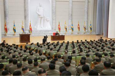 160110 - 조선의 오늘 - KIM JONG UN - Marschall KIM JONG UN hielt im Ministerium für Volksstreitkräfte eine programmatische Rede - 12 - 경애하는 김정은동지께서 새해에 즈음하여 인민무력부를 축하방문하시고 강령적인 연설을 하시였다