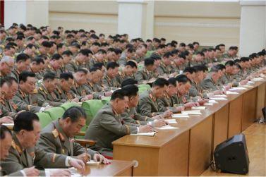 160110 - 조선의 오늘 - KIM JONG UN - Marschall KIM JONG UN hielt im Ministerium für Volksstreitkräfte eine programmatische Rede - 13 - 경애하는 김정은동지께서 새해에 즈음하여 인민무력부를 축하방문하시고 강령적인 연설을 하시였다