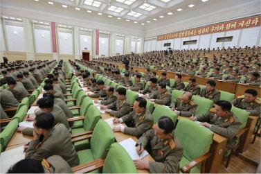 160110 - 조선의 오늘 - KIM JONG UN - Marschall KIM JONG UN hielt im Ministerium für Volksstreitkräfte eine programmatische Rede - 14 - 경애하는 김정은동지께서 새해에 즈음하여 인민무력부를 축하방문하시고 강령적인 연설을 하시였다
