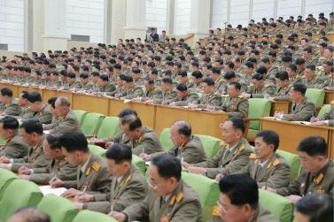 160110 - 조선의 오늘 - KIM JONG UN - Marschall KIM JONG UN hielt im Ministerium für Volksstreitkräfte eine programmatische Rede - 15 - 경애하는 김정은동지께서 새해에 즈음하여 인민무력부를 축하방문하시고 강령적인 연설을 하시였다