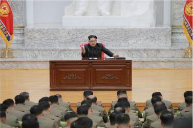 160110 - 조선의 오늘 - KIM JONG UN - Marschall KIM JONG UN hielt im Ministerium für Volksstreitkräfte eine programmatische Rede - 11 - 경애하는 김정은동지께서 새해에 즈음하여 인민무력부를 축하방문하시고 강령적인 연설을 하시였다