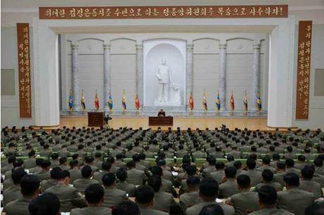 160110 - RS - KIM JONG UN - Marschall KIM JONG UN hielt im Ministerium für Volksstreitkräfte eine programmatische Rede - 05 - 경애하는 김정은동지께서 새해에 즈음하여 인민무력부를 축하방문하시고 강령적인 연설을 하시였다