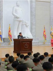 160110 - RS - KIM JONG UN - Marschall KIM JONG UN hielt im Ministerium für Volksstreitkräfte eine programmatische Rede - 03 - 경애하는 김정은동지께서 새해에 즈음하여 인민무력부를 축하방문하시고 강령적인 연설을 하시였다