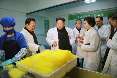 160123 - 조선의 오늘 - KIM JONG UN - Marschall KIM JONG UN besichtigte das Lebensmittelkombinat für Sportler Kumkop - 06 - 경애하는 김정은동지께서 현대적으로 개건된 금컵체육인종합식료공장을 현지지도하시였다