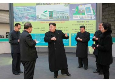 160123 - RS - KIM JONG UN - Marschall KIM JONG UN besichtigte das Lebensmittelkombinat für Sportler Kumkop - 03 - 경애하는 김정은동지께서 현대적으로 개건된 금컵체육인종합식료공장을 현지지도하시였다