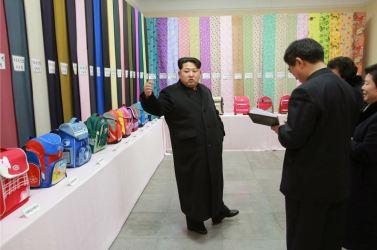 160128 - 조선의 오늘 - KIM JONG UN - Marschall KIM JONG UN besichtigte die Pyongyanger Textilfabrik 'Kim Jong Suk' - 06 - 경애하는 김정은동지께서 김정숙평양방직공장을 현지지도하시였다