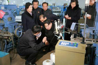160128 - 조선의 오늘 - KIM JONG UN - Marschall KIM JONG UN besichtigte die Pyongyanger Textilfabrik 'Kim Jong Suk' - 12 - 경애하는 김정은동지께서 김정숙평양방직공장을 현지지도하시였다