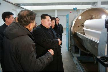 160128 - 조선의 오늘 - KIM JONG UN - Marschall KIM JONG UN besichtigte die Pyongyanger Textilfabrik 'Kim Jong Suk' - 13 - 경애하는 김정은동지께서 김정숙평양방직공장을 현지지도하시였다