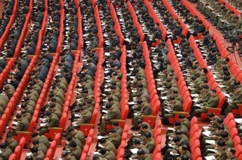 160204 - 조선의 오늘 - KIM JONG UN - Marschall KIM JONG UN leitete eine erweiterte Sitzung der gemeinsamen Konferenz des ZK der PdAK und des KVA-Komitees - 10 - 조선로동당 제1비서이신 경애하는 김정은동지의 지도밑에 조선로동당 중앙위원회, 조선로동당 조선인민군위원회 련합회의 확대회의가 진행되였다