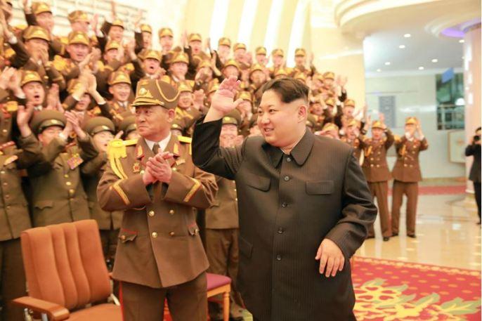 160223 - 조선의 오늘 - KIM JONG UN - Marschall KIM JONG UN wohnte dem Konzert zum 70. Gründungstag der Militärkapelle der KVA bei - 03 - 경애하는 김정은동지께서 조선인민군군악단창립 일흔돐기념 연주회를 관람하시였다