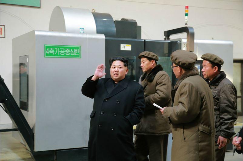 160302 - 조선의 오늘 - KIM JONG UN - Marschall KIM JONG UN besuchte das Maschinenwerk Thaesong - 01 - 경애하는 김정은동지께서 태성기계공장을 현지지도하시고 현대화과업을 제시하시였다.pdf
