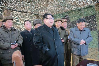 160304 - 조선의 오늘 - KIM JONG UN - 01 - 경애하는 김정은동지께서 신형대구경방사포시험사격을 지도하시였다