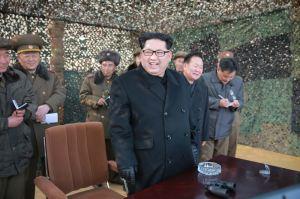 160304 - 조선의 오늘 - KIM JONG UN - 03 - 경애하는 김정은동지께서 신형대구경방사포시험사격을 지도하시였다