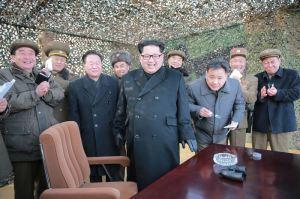 160304 - 조선의 오늘 - KIM JONG UN - 05 - 경애하는 김정은동지께서 신형대구경방사포시험사격을 지도하시였다