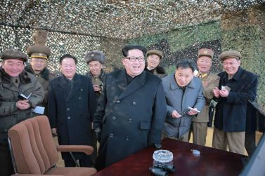 160304 - 조선의 오늘 - KIM JONG UN - 06 - 경애하는 김정은동지께서 신형대구경방사포시험사격을 지도하시였다