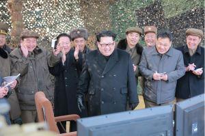 160304 - 조선의 오늘 - KIM JONG UN - 07 - 경애하는 김정은동지께서 신형대구경방사포시험사격을 지도하시였다