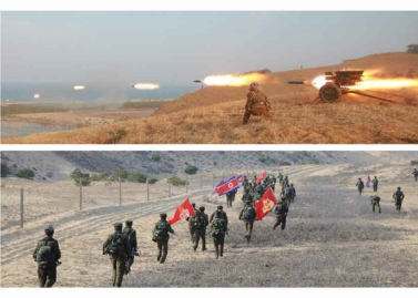 160320 - RS - KIM JONG UN - Marschall KIM JONG UN leitete eine Landungs- und Landungsabwehrübung der KVA - 09 - 경애하는 김정은동지께서 조선인민군 상륙 및 반상륙방어연습을 지도하시였다