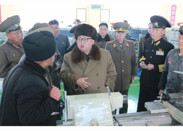 160322 - RS - Marschall KIM JONG UN besichtigte das Schiffsreparaturwerk '3. Oktober' der 597. Truppe der KVA - 03 - 경애하는 김정은동지께서 우리 나라 선박수리공장의 본보기, 표준으로 전변된 조선인민군 해군 제597군부대관하 10월3일공장을 현지지도하시였다