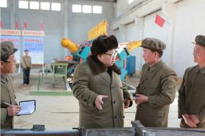 160324 - 조선의 오늘 - KIM JONG UN - Marschall KIM JONG UN besichtigte den Betrieb '11. Februar' im Vereinigten Maschinenwerk Ryongsong - 01 - 경애하는 김정은동지께서 룡성기계련합기업소 2월11일공장을 현지지도하시였다