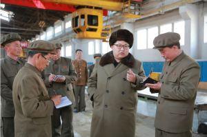 160324 - 조선의 오늘 - KIM JONG UN - Marschall KIM JONG UN besichtigte den Betrieb '11. Februar' im Vereinigten Maschinenwerk Ryongsong - 02 - 경애하는 김정은동지께서 룡성기계련합기업소 2월11일공장을 현지지도하시였다