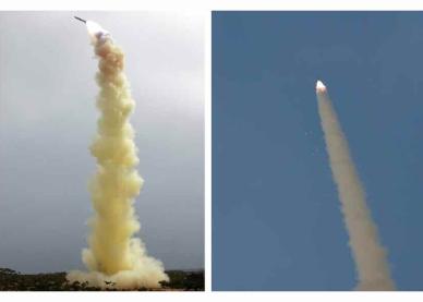 160402 - RS - KIM JONG UN - Marschall KIM JONG UN begutachtete ein neues Luftabwehrwaffensystem - 01 - 경애하는 김정은동지께서 새형의 반항공요격유도무기체계의 전투성능판정을 위한 시험사격을