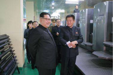 160419 - 조선의 오늘 - KIM JONG UN - 03 - 경애하는 김정은동지께서 새로 건설된 민들레학습장공장을 현지지도하시였다