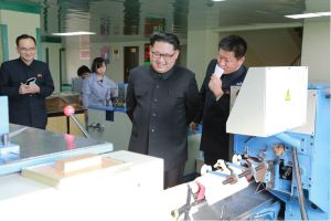 160419 - 조선의 오늘 - KIM JONG UN - 13 - 경애하는 김정은동지께서 새로 건설된 민들레학습장공장을 현지지도하시였다