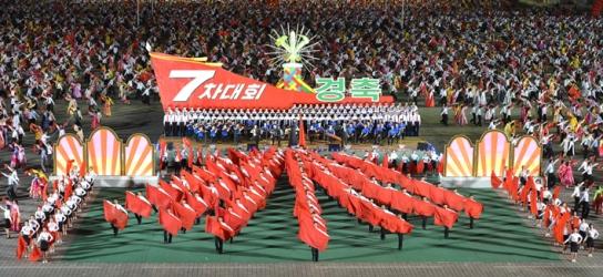 160510 - Naenara - 7. Parteitag der PdAK - Soiree und Fackelzug der Jugendlichen zum 7. Parteitag der PdAK - 01