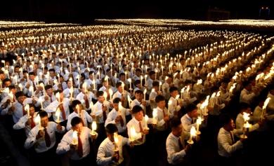 160510 - Naenara - 7. Parteitag der PdAK - Soiree und Fackelzug der Jugendlichen zum 7. Parteitag der PdAK - 04