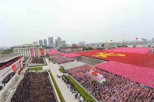 160510 - Naenara - KIM JONG UN - 7. Parteitag der PdAK - Massenkundgebung und -demonstration der Stadt Pyongyang zum VII. Parteitag der PdAK - 02