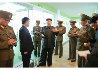 160515 - RS - KIM JONG UN - Marschall KIM JONG UN besuchte die Baumschule Nr. 122 der KVA - 07 - 경애하는 김정은동지께서 지식경제시대의 요구에 맞게 과학화, 공업화, 집약화가 훌륭히 실현된 조선인민군 122호양묘장을 현지지도하시였다
