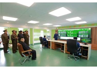 160515 - RS - KIM JONG UN - Marschall KIM JONG UN besuchte die Baumschule Nr. 122 der KVA - 08 - 경애하는 김정은동지께서 지식경제시대의 요구에 맞게 과학화, 공업화, 집약화가 훌륭히 실현된 조선인민군 122호양묘장을 현지지도하시였다