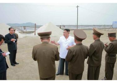 160524 - RS - KIM JONG UN - Marschall KIM JONG UN besuchte die Saline Kwisong - 04 - 경애하는 김정은동지께서 귀성제염소를 현지지도하시면서 인민군대에서 진행하고있는 지하초염수에 의한 소금생산실태를 료해하시였다