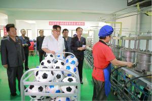 160602 - 조선의 오늘 - KIM JONG UN - Marschall KIM JONG UN sah sich die neu gebaute Pyongyanger Sportgerätefabrik an - 09 - 경애하는 김정은동지께서 새로 건설한 평양체육기자재공장을 현지지도하시였다