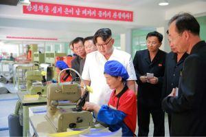 160602 - 조선의 오늘 - KIM JONG UN - Marschall KIM JONG UN sah sich die neu gebaute Pyongyanger Sportgerätefabrik an - 11 - 경애하는 김정은동지께서 새로 건설한 평양체육기자재공장을 현지지도하시였다