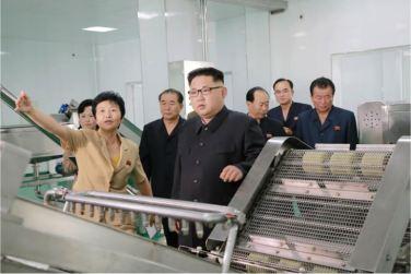 160610 - 조선의 오늘 - KIM JONG UN - Genosse KIM JONG UN besuchte die neu gebaute Kimchi-Fabrik Ryugyong - 02 - 경애하는 김정은동지께서 새로 건설된 류경김치공장을 현지지도하시였다