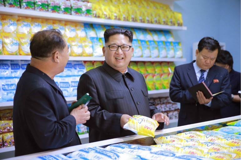 160616 - 조선의 오늘 - KIM JONG UN - Genosse KIM JONG UN besuchte das modern umgebaute Pyongyanger Getreideverarbeitungswerk - 03 - 경애하는 김정은동지께서 현대적으로 개건된 평양곡산공장을 현지지도하시였다