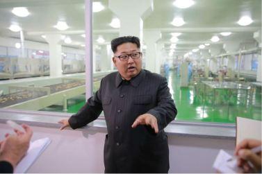 160616 - 조선의 오늘 - KIM JONG UN - Genosse KIM JONG UN besuchte das modern umgebaute Pyongyanger Getreideverarbeitungswerk - 05 - 경애하는 김정은동지께서 현대적으로 개건된 평양곡산공장을 현지지도하시였다