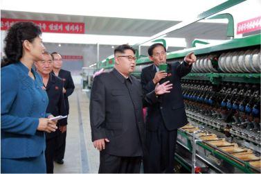 160621 - 조선의 오늘 - Genosse KIM JONG UN besuchte die Pyongyanger Seidenspinnerei 'Kim Jong Suk' - 01 - 경애하는 김정은동지께서 김정숙평양제사공장을 현지지도하시였다